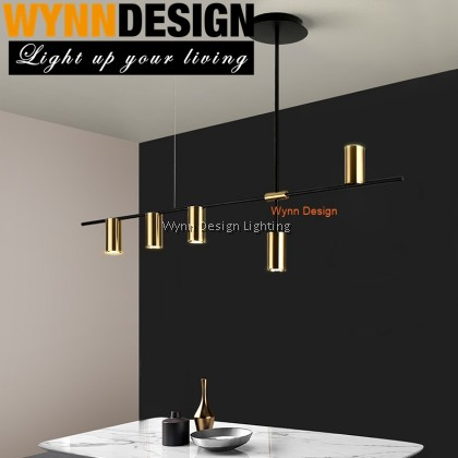 Wynn Design Gold Chandelier Long Simple 5/6/9 Holder Creative Atmosphere Light Luxury Post-Modern Nordic Led Bedroom Living Room Lamp Dining Room Lamp(5271 SERIES)